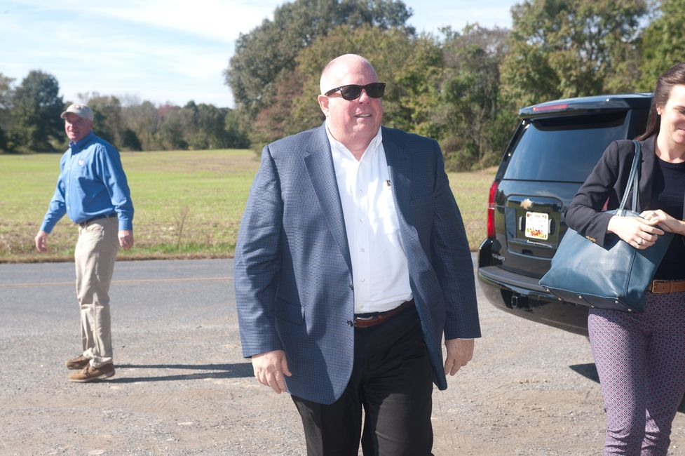 Governor of Maryland walking