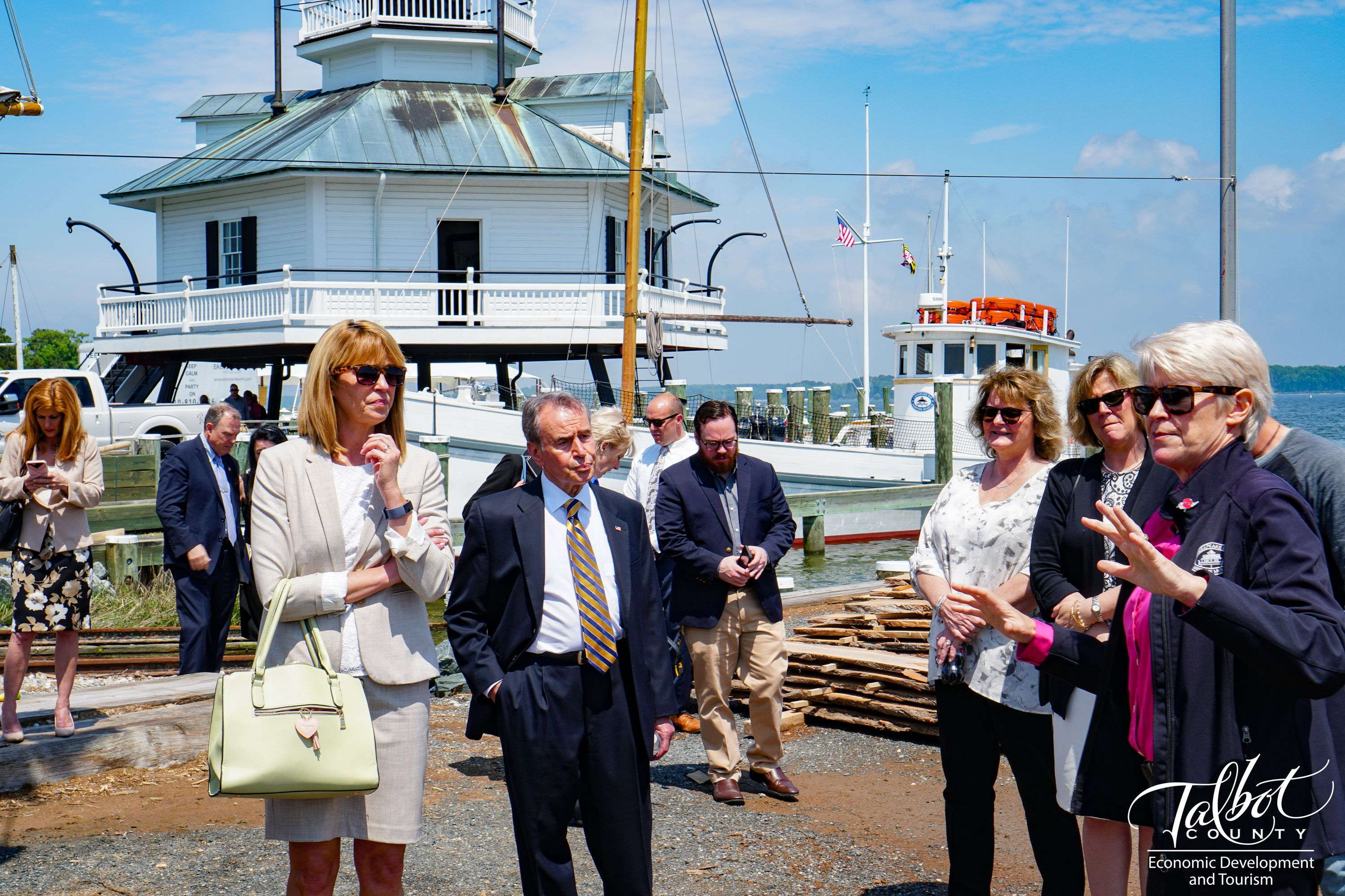 Secretary Kelly Schulz with guests on tour